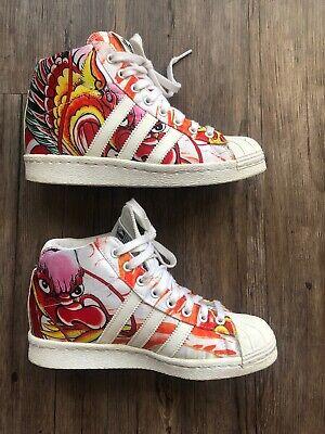 seda su algas marinas  Adidas Rita Ora Superstar Up W Dragon Jeremy Scott B26723 SZ 6 Wedges Shoes  | eBay