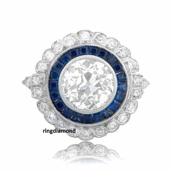 2.44 Ct Near White Round Moissanite Forever Bezel Engagement Ring 10K White gold