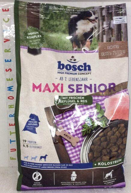 Bosch Maxi Senior | mit frischem Geflügel und Reis 2,5 kg  + ***Geschenk***