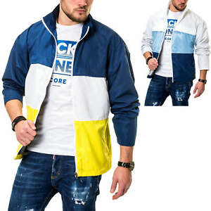 Jack-amp-Jones-Herren-Jacke-Ubergangsjacke-mit-Color-Blocking-Design-Windbreaker