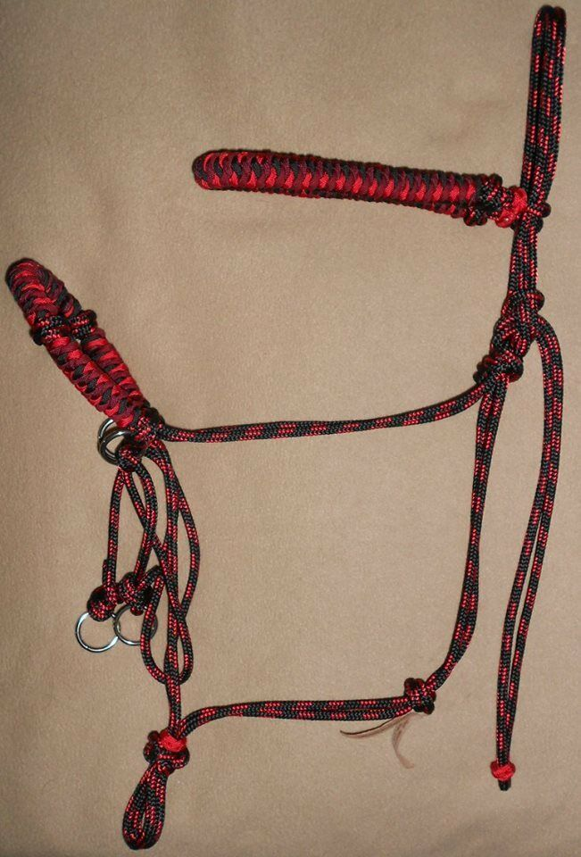 Beautiful Hand Braided Rope Halter Bridle Bitless Combo