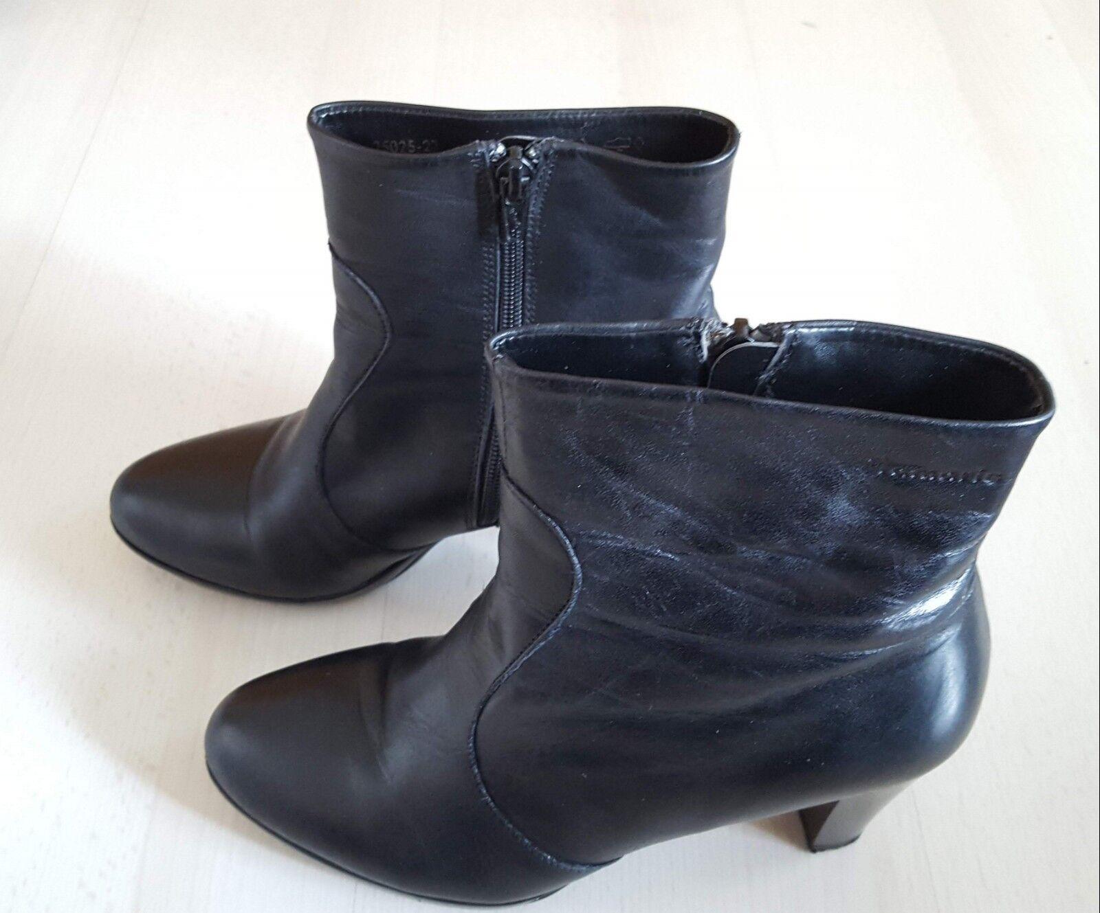 Tamaris Stiefeletten Pumps Größe Leder schwarz Größe Pumps 38  Topzustand  wie neu 4005a2
