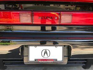 "Honda /""The Power of Dreams/"" Black Aluminum License Plate Insert"