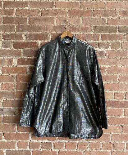 Vintage Agnes b. Women's Metallic Blouse Sz 3 Fran