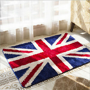 Image Is Loading UK Flag Superfine Anti Skid Rug Dining Room