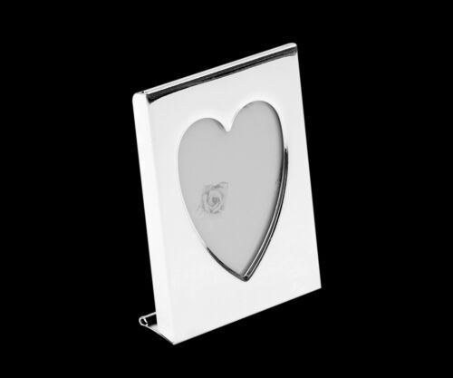 Picture Frame Mini Photo Small Passport Heart with Engraving Portrait