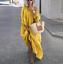 thumbnail 17 - Womens Oversize Long Sleeves Sloping Off Shoulder Loose Maxi Dress Fashion Plus