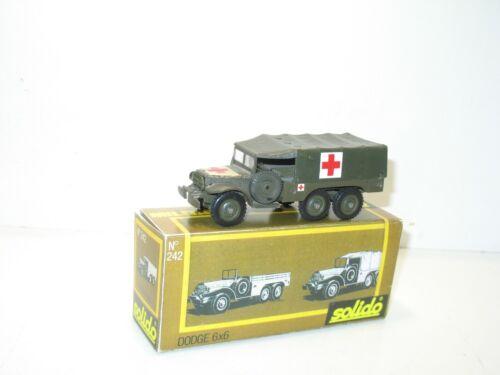 SOLIDO Camion militaire DODGE 6X6 sanitaire ambulance