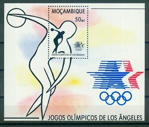 Mosambike-Block-15-Olympische-Spiele-1984