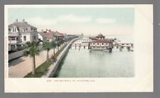 [54062] Circa 1903 POSTCARD THE SEA WALL IN ST. AUGUSTINE, FLORIDA