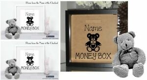 Details About Kids Money Box Sticker For Diy Box Frame Money Fund Box Complete Set Add Name
