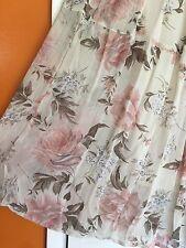 Medium/Large Tiered Maxi Peasant skirt pink long gypsy boho hippie Pink Roses