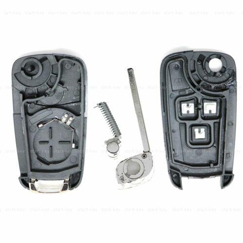 Chevrolet Cruze aveo orlando plegable funk clave de sustitución carcasa 3 teclas Repair