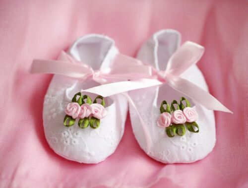 Baby Girl Sweet White Gifted Princess Ballerina Cotton Shoes 0-3 months