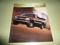 2000 Chevrolet Silverado C/k S-10 Trailering Guide
