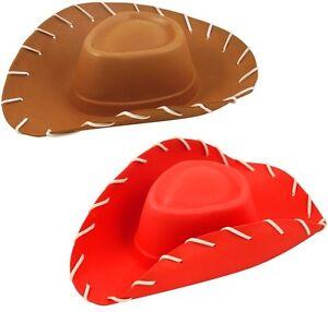 La imagen se está cargando infantil-EVA-DISFRAZ-VAQUERO-Sombrero-Jessie -Woody-Toy- 47da2076945