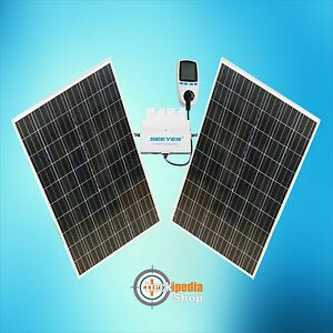 480 watt plug play solaranlage photovoltaik komplett set. Black Bedroom Furniture Sets. Home Design Ideas