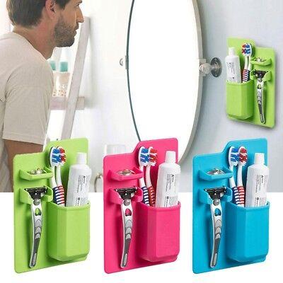 Shaver Toothbrush Holder Washroom Bathroom Suction Cup Razor Hook Cap Rack KI