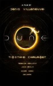 Dune Movie Poster Sci Fi Adventure 2020 Film Custom Silk Print 24x36 60x90cm Ebay