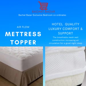 Mattress Topper Air Flow Microfiber Thickness 5cm Hollow Filling Anti Allergic