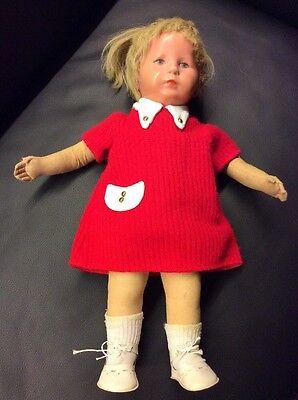 Bescheiden Alte Antike Käthe Kruse Puppe Mantel Kleid Schuhe Unterhemd Echthaar Mädchen Diversifizierte Neueste Designs