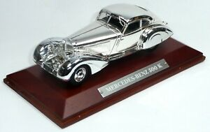 1934-Mercedes-Benz-500-K-chrome-ca-1-43-Luxus-Edition-in-Vitrine-von-DeAgostini