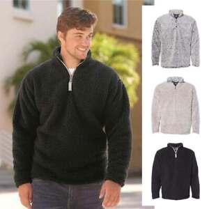 J America Sherpa Quarter-Zip Pullover 8454