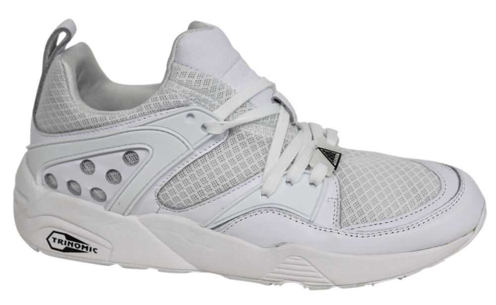 Puma Trinomic Blaze Of Glory Mens Yin Yang Leather Mesh Mens Glory White Trainers 359687 01 fa9fe7