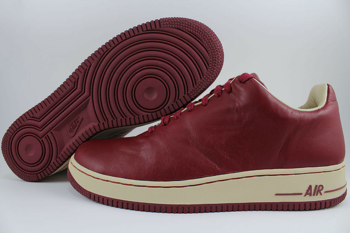 NIKE AIR FORCE 1 LTD TEAM RED NET BURGUNDY SEAMLESS AUTHENTIC DS 2005 MENS 10.5