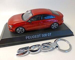 Peugeot 508 Gt - 2018, Rot-met. Avec Porte-clés, Norev, 1:43