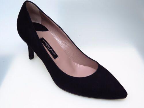 Ala 37 Nouveau A33374 Alberto Zago Daim Chaussures Femme GrEu Chaussures Noir YfIbv76mgy