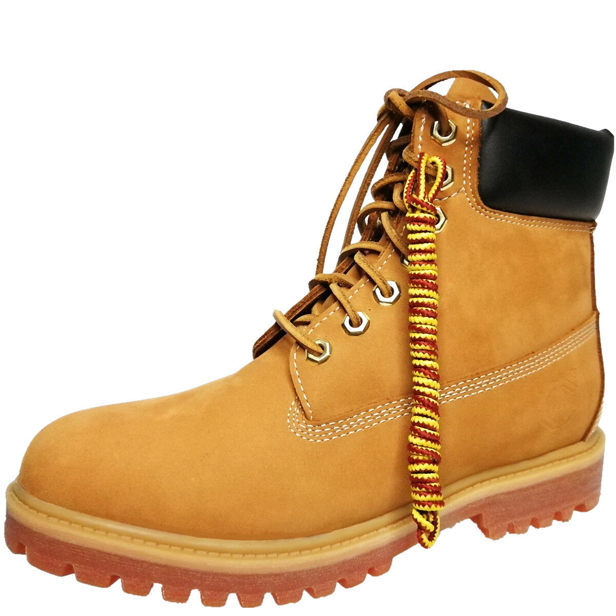 10061Men's 6  Premium Waterproof Boot  2.2MM cowhide   leather shoes lace + nylo
