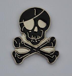 Skull and Crossbones Pirate Quality Enamel Pin Badge