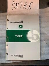 John Deere 1600 Mower Conditioner Technical Repair Manual Tm1474 Oem