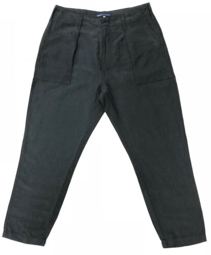 Pants Crop Levi's Linen Rrp Madeamp; Crafted In Silk 198 Charcoal TJcuKF1l35