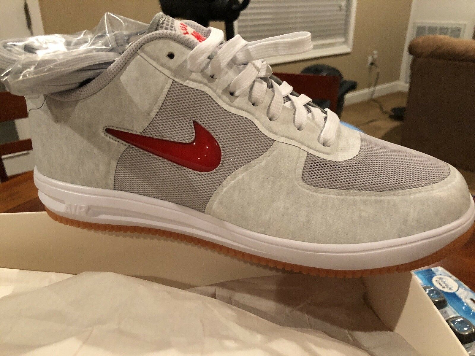 Nike Lunar Air Force 1 Fuse SP CLOT Natural Grey White Red Blue 717303-064 12