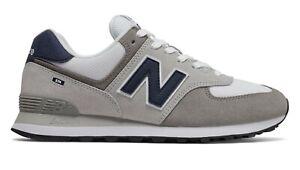 NEW-BALANCE-574-Classic-Scarpe-Uomo-Sneakers-WHITE-GREY-NAVY-ML574EAG