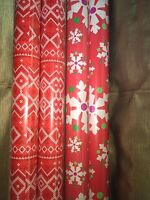 Gift Wrapping Paper Rolls-snowflakes, Quilt Designs-set Of 4