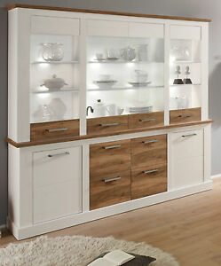 buffetschrank weiss pinie nussbaum anrichte landhaus schrank highboard toronto ebay. Black Bedroom Furniture Sets. Home Design Ideas
