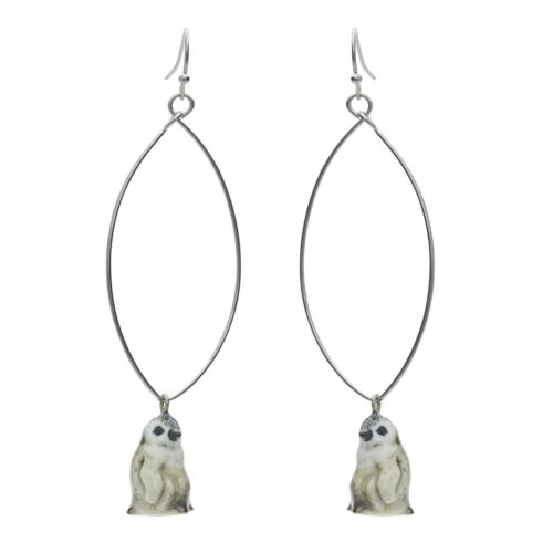And Mary Ceramic       Baby Penguin  Drop Earrings