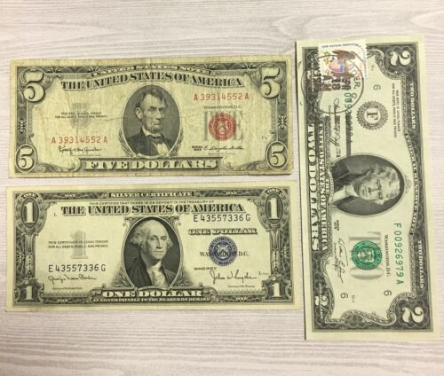 1935 $1.00 Blue Seal $2.00 First Day Issued $5.00 Red Seal 1935...1976...1963