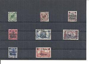 DAP-CHINA-1898-1919-verschiedene-Einzelmarken-ex-MiNrn-1-47-o-gestempelt
