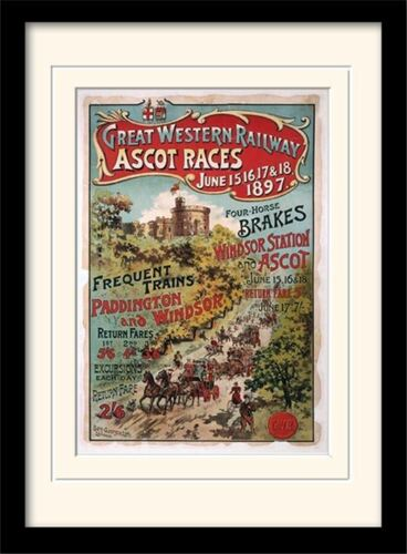 Ascot Races By GWR Framed /& Mounted Print