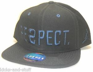 New Air Jordan Derek Jeter Re2pect Respect Snapback Hat Cap Black ... 74341f697a8