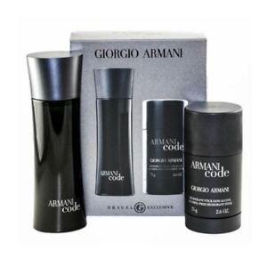 Giorgio Armani Code Pour Homme Eau de Toilette 75ml Spray Gift Set ... 565ba52385cf