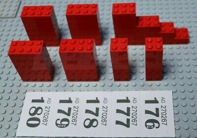 36x LEGO Rosso mattoni//blocchi 2x2,2x3,2x4 Fair #451-5