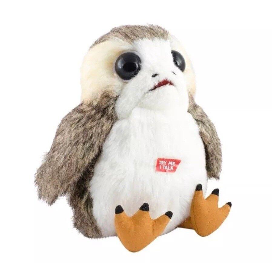 PORG Star Wars Episode 8 The Last Jedi LIFE SIZE Talking Plush Stuffed Toy NEW
