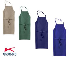 Arbeitsschuerze-Latzschuerze-Baumwollschuerze-97-cm-lang-4-Farben-Marke-Kuebler