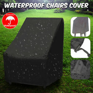 Details About 35u0027u0027 Outdoor High Back Patio Chair Cover Garden Furniture  Protection Waterproof