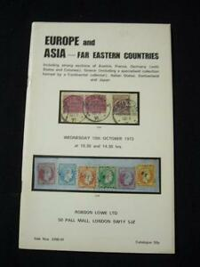 Stamps Robson Lowe Auction Catalogue 1976 British Asia